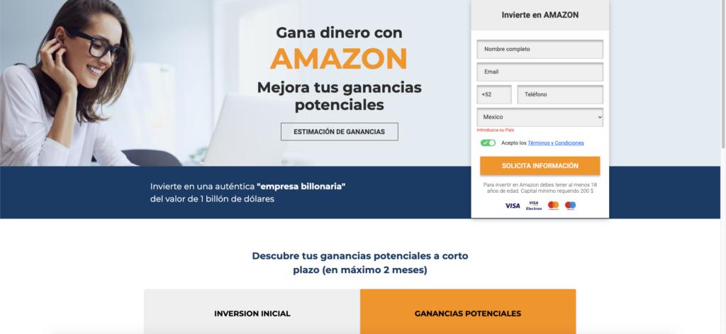 anuncio de invertir en Amazon